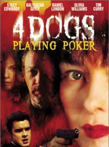 Four Dogs Playing Poker