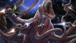 Les Gardiens de la Galaxie face... à un monstre de l