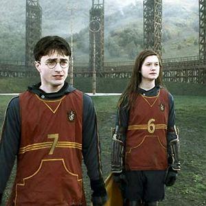 Harry Potter et le Prince de sang mêlé : Photo Bonnie Wright, Daniel Radcliffe