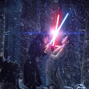 Star Wars - Le Réveil de la Force : Photo Adam Driver, Daisy Ridley