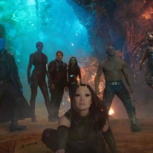 Les Gardiens de la Galaxie 2 : Photo Chris Pratt, Dave Bautista, Karen Gillan, Michael Rooker, Pom Klementieff
