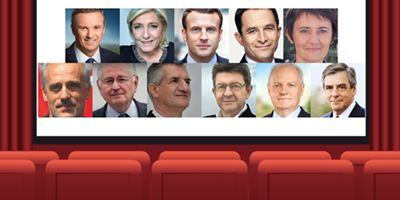 """Présidentielle - """"Nouvelle Vague"""", """"A bout de souffle"""", """"Tirez sur le pianiste"""" : les candidats donnent un titre de  film à la campagne 2017"""