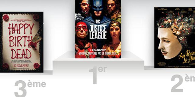 Box-office France : la Justice League s'assemble en tête