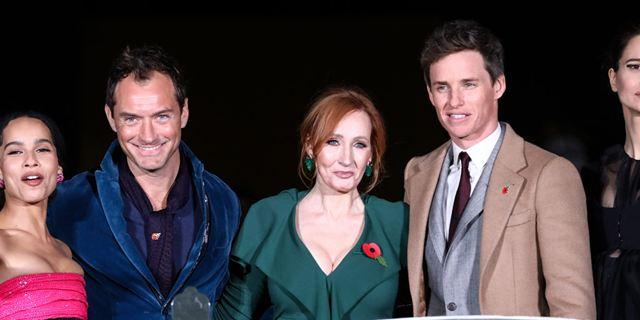 Les Animaux Fantastiques 2 :  Eddie Redmayne, J.K. Rowling, et Jude Law à l'avant-première mondiale