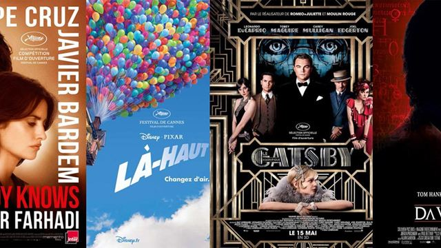 Everybody Knows, Là-haut, Gatsby... 20 ans de films d'ouverture au Festival de Cannes