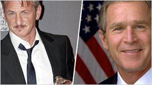 """Lettre ouverte de Sean Penn à George W. Bush : """"je ne crois pas en une vision incendiaire du bien et du mal""""..."""