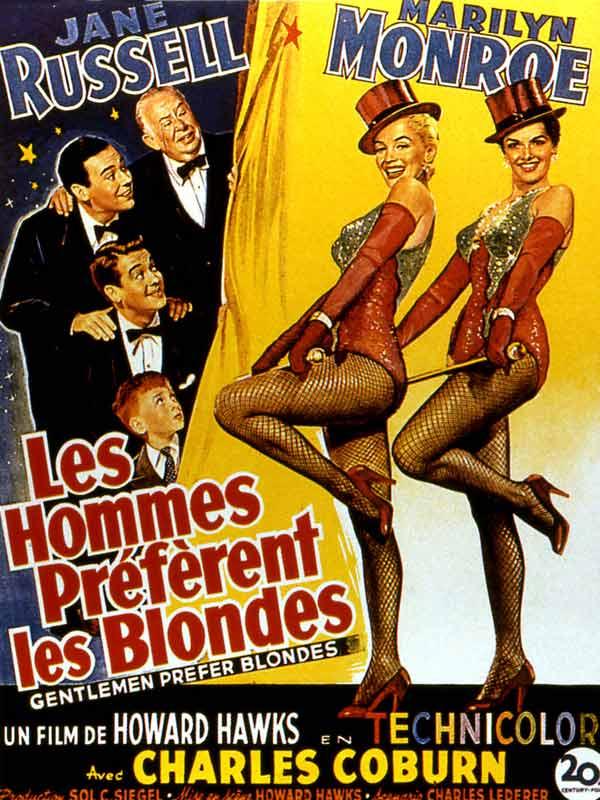 Les Hommes préfèrent les blondes : Affiche