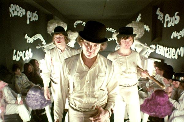 Orange mécanique : Photo Malcolm McDowell, Stanley Kubrick