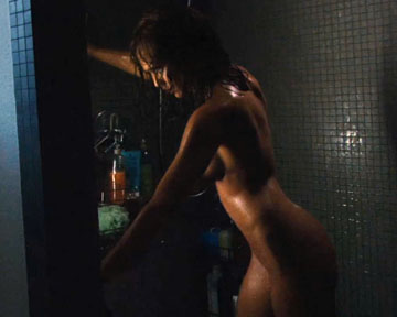 alba machete scene Jessica shower