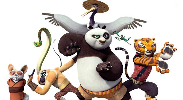 Dessin animé kung fu