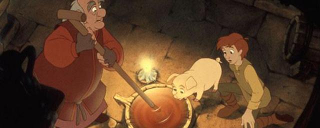 dessin animé taram et le chaudron magique