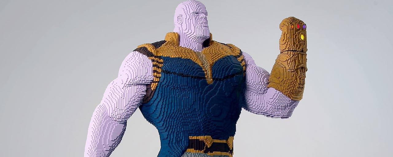 Comic Con 2018 : une statue Lego grandeur nature de Thanos attendue