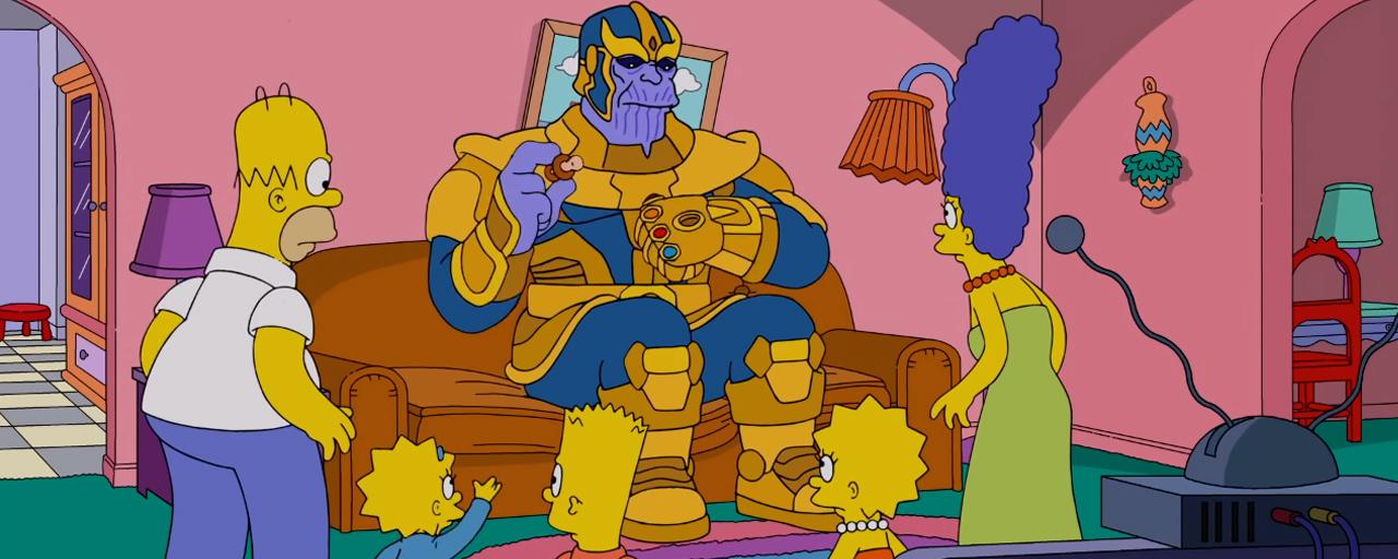 Les Simpson : quand Thanos squatte le célèbre canapé le temps d'un gag