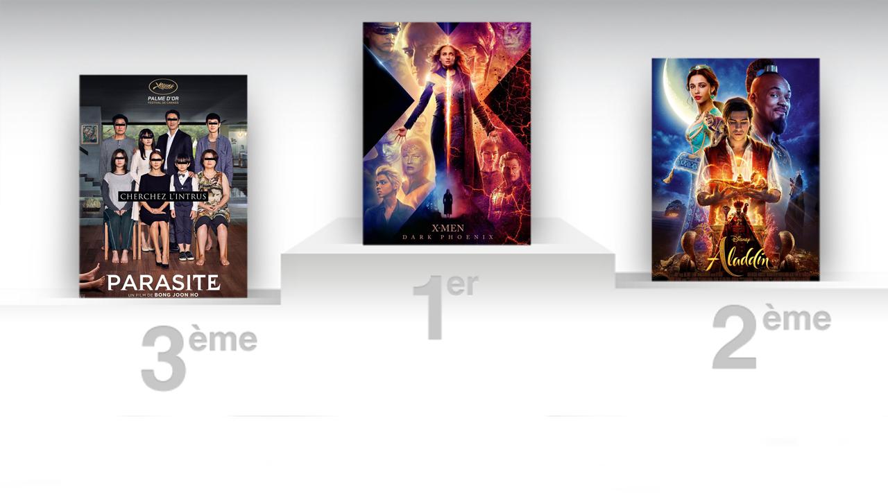 Box-office France : X-Men Dark Phoenix prend la première place à Aladdin