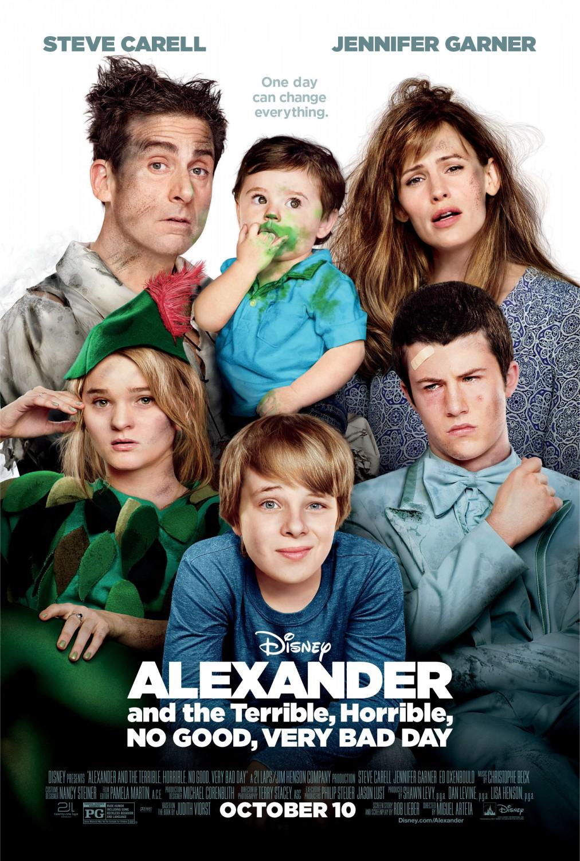 ალექსანდრე და საშინელი, უიღბლო, ძალიან ცუდი დღე - Alexander and the Terrible, Horrible, No Good, Very Bad Day / Александр и ужасный, кошмарный, нехороший, очень плохой день (2014)