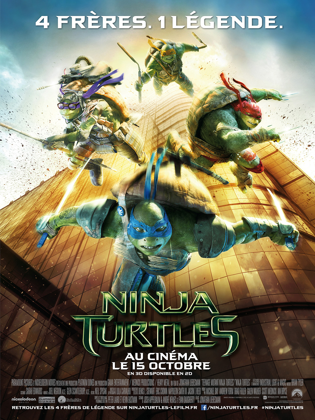 Ninja turtles film 2014 allocin - Tortues ninja leonardo ...