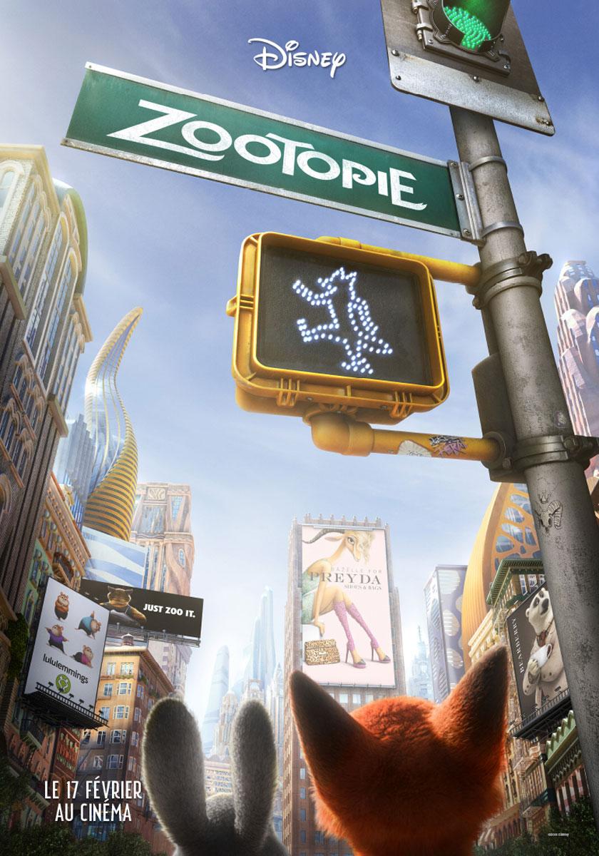 affiche zootopie disney