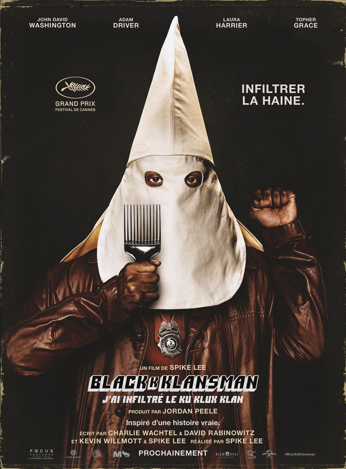 blackkklansman j 39 ai infiltr le ku klux klan film 2018 allocin. Black Bedroom Furniture Sets. Home Design Ideas