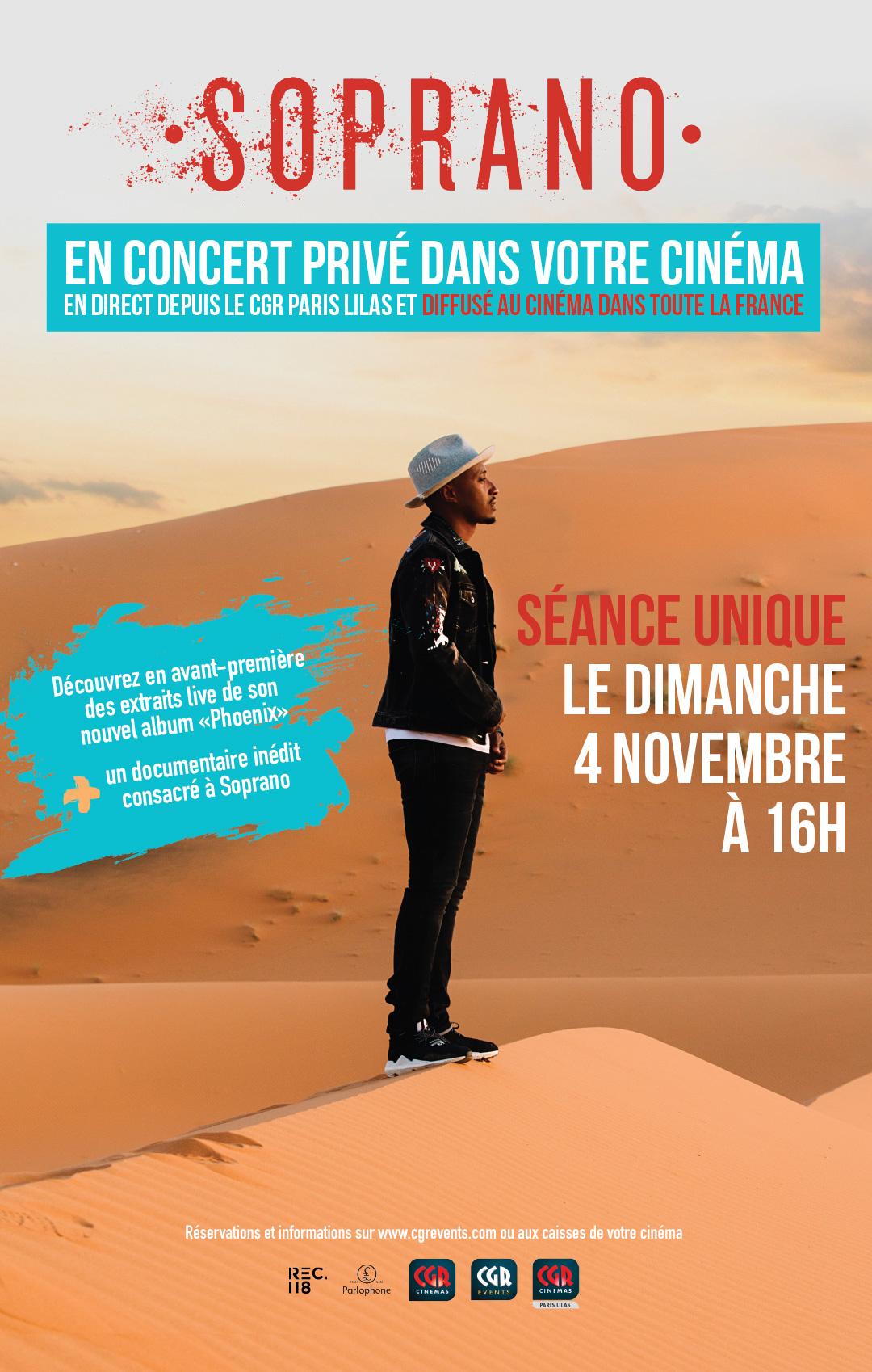 Soprano – le concert privé diffusé au cinéma (CGR Events)