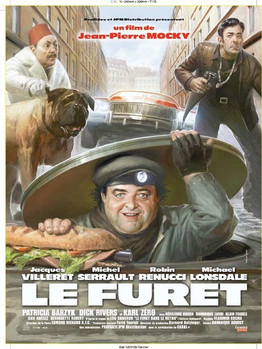Le Furet : Affiche Jacques Villeret, Jean-Pierre Mocky, Michel Serrault, Robin Renucci