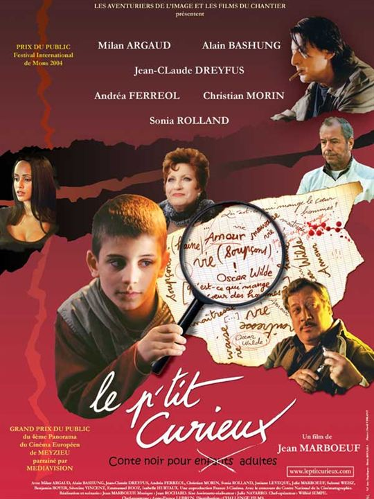 Le P'tit curieux : Affiche Alain Bashung, Christian Morin, Jean Marboeuf, Jean-Claude Dreyfus, Milan Argaud