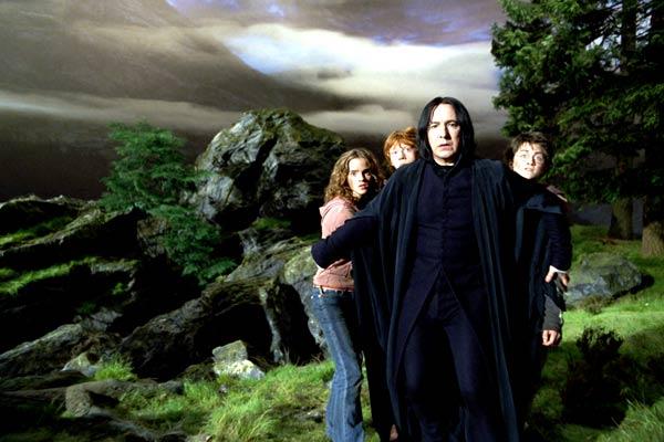 Harry Potter et le Prisonnier d'Azkaban : Photo Alan Rickman, Daniel Radcliffe, Emma Watson, Rupert Grint