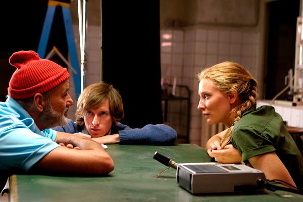 La Vie aquatique : Photo Bill Murray, Cate Blanchett, Wes Anderson