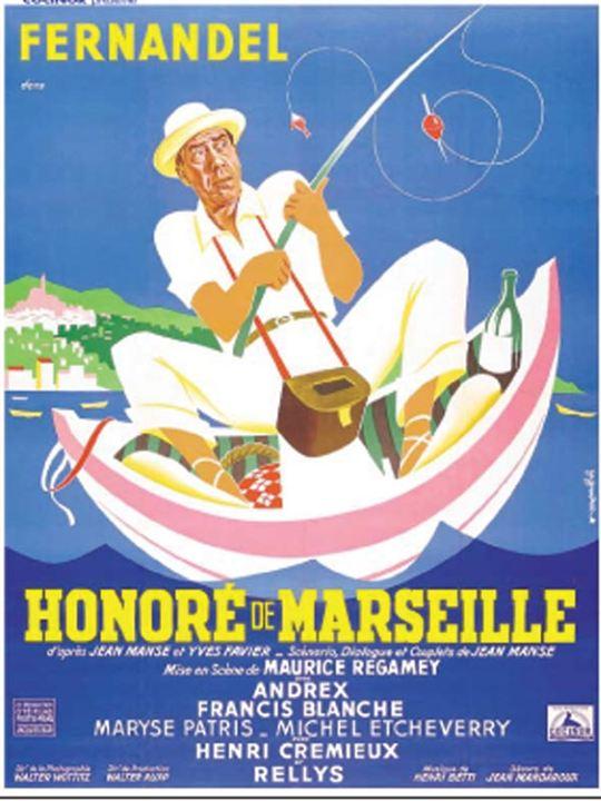 Honoré de Marseille : affiche Fernandel, Maurice Regamey