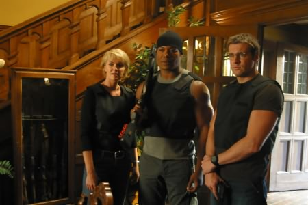 Stargate SG-1 : Photo Amanda Tapping, Christopher Judge, Michael Shanks