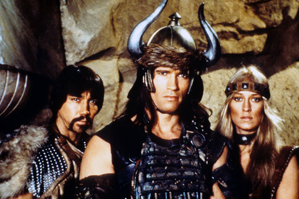 Conan le barbare : Photo Arnold Schwarzenegger, Gerry Lopez, John Milius, Robert E. Howard, Sandahl Bergman