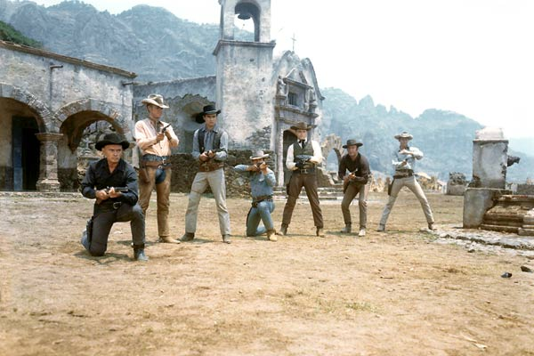 Les Sept mercenaires : Photo Brad Dexter, Charles Bronson, Horst Buchholz, James Coburn, John Sturges