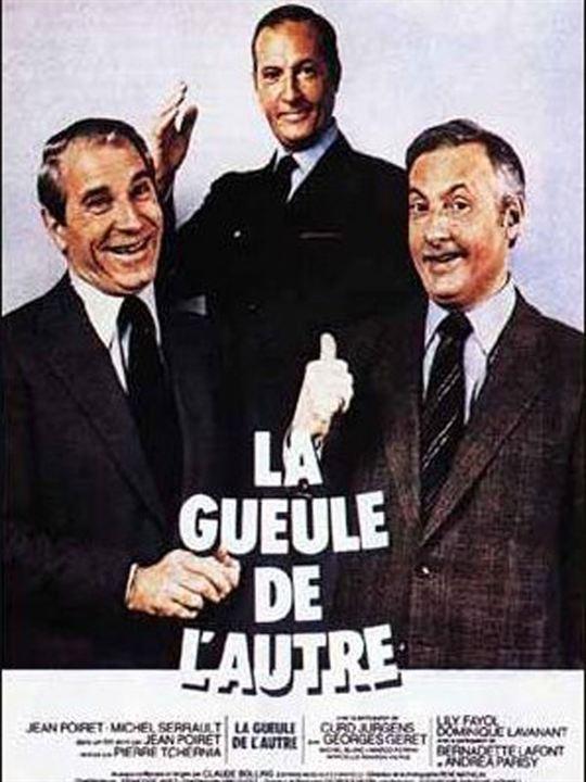La Gueule de l'autre : Affiche Jean Poiret, Michel Serrault, Pierre Tchernia