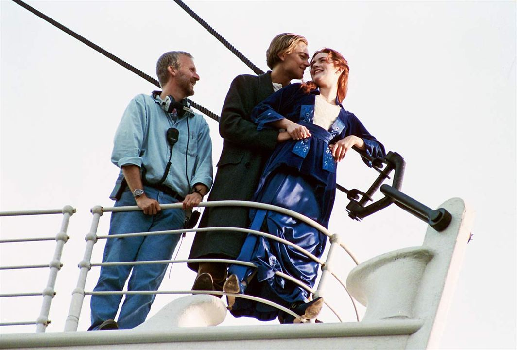 Titanic : Photo James Cameron, Kate Winslet, Leonardo DiCaprio