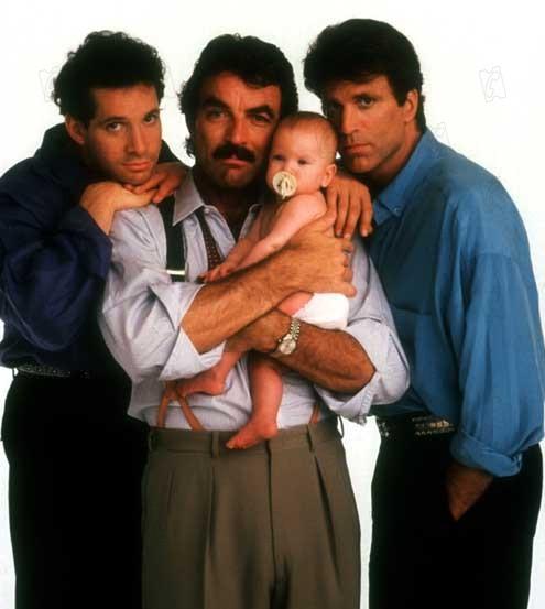 Trois hommes et un bébé : Photo Leonard Nimoy, Tom Selleck