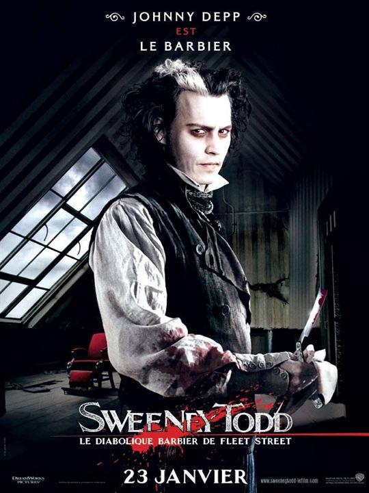 Sweeney Todd, le diabolique barbier de Fleet Street : Affiche Johnny Depp