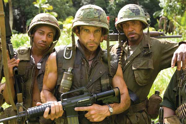 Tonnerre sous les Tropiques : Photo Alpa Chino, Ben Stiller, Brandon T. Jackson, Kirk Lazarus, Robert Downey Jr.