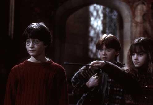 Harry Potter à l'école des sorciers : Photo Daniel Radcliffe, Emma Watson, Rupert Grint
