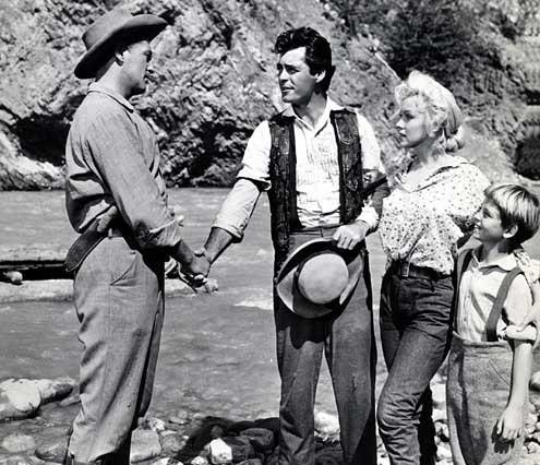 Rivière sans retour : Photo Marilyn Monroe, Otto Preminger, Robert Mitchum, Rory Calhoun, Tommy Rettig
