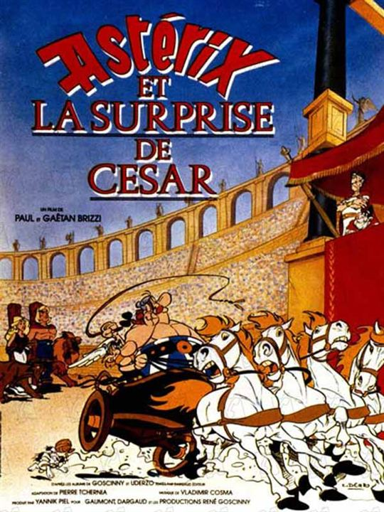 Astérix et la surprise de César affiche