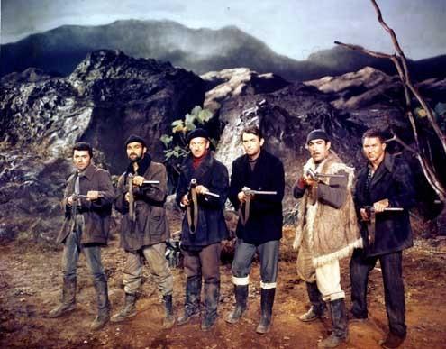 Les Canons de Navarone : Photo Anthony Quayle, Anthony Quinn, David Niven, Gregory Peck, Jack Lee Thompson