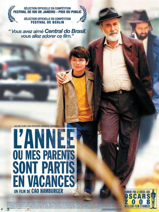L'Année où mes parents sont partis en vacances : Affiche Cao Hamburger, Germano Haiut, Michel Joelsas