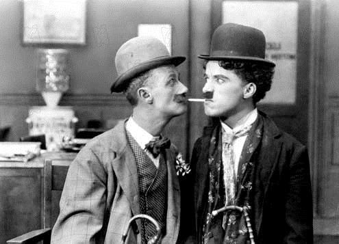 His New Job : Photo Ben Turpin, Charles Chaplin