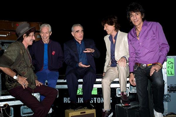 Shine a Light : Photo Charlie Watts, Keith Richards, Martin Scorsese, Mick Jagger, Ron Wood