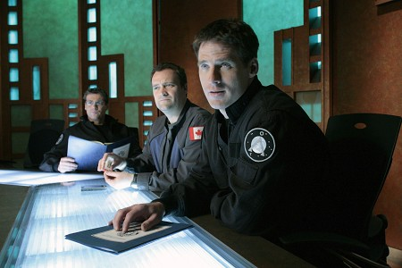 Stargate SG-1 : Photo Ben Browder, David Hewlett, Michael Shanks (I)