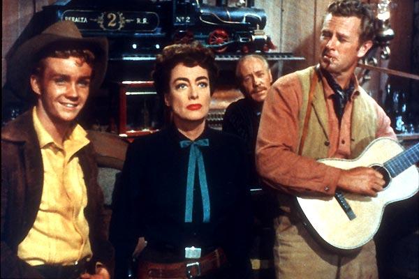 Photo Joan Crawford, Nicholas Ray, Sterling Hayden