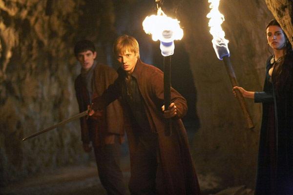 Merlin : Photo Bradley James (II), Colin Morgan (II), Katie McGrath