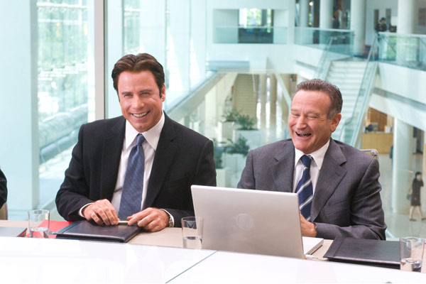 """Les 2 font la """"père"""" : Photo John Travolta, Robin Williams, Walt Becker"""