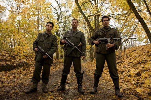 Inglourious Basterds : Photo Eli Roth, Samm Levine, Til Schweiger