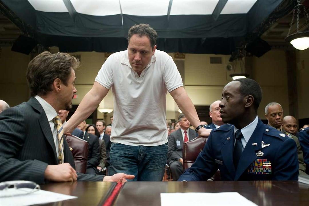 Iron Man 2 : Photo Don Cheadle, Jon Favreau, Robert Downey Jr.