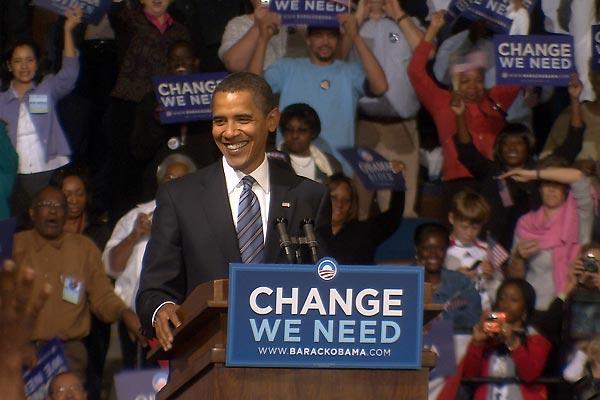 Marching Band : Photo Barack Obama, Claude Miller